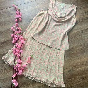 Beautiful April Cornell 2 pc Skirt Set!
